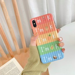 orange apple fruit UK - Vitality summer striped fruit apple XS Max   XR suitable for mobile phone shell iPhone8plus   7p   6s personalized protective sleeve spot wh