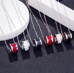 $enCountryForm.capitalKeyWord Australia - Fashion Unisex Brand Silver Rose Gold White Ceramic Luxury Jewelry Women Titanium Steel Charm Collarbone Chain Designer Necklaces