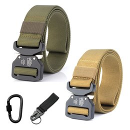 $enCountryForm.capitalKeyWord Australia - Men's Nylon Belt Tactical Survival Belt Army Combat Training Hunting Heavy Duty Waist Strap Metal Buckle Accessories