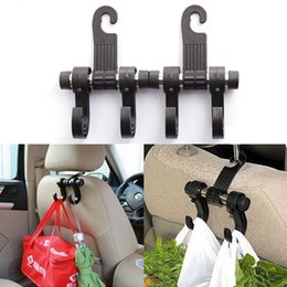 truck coating NZ - 1 2 4Pcs Car Seat Back Hooks trunk organizer Headrest Hanger Truck Handbag Shopping Bag Coat car Storage Hanger Organizer Holder