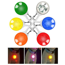 Discount glow dark dog collar wholesale - Pet Cat Dog Collar Night Safety LED Leads Lights Glowing Pendant Necklace Pet Luminous Bright Glowing Collar in Dark