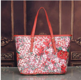 branded laptop bag women Australia - Hot flower Blooms women tote bag Geranium printing shopper bag luxury pu leather handbags female business laptop bags famous brand