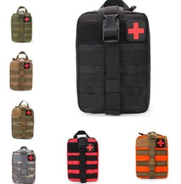 Discount mini first aid wholesale - Emergency Kits Tactical Medical First Aid Kit Waist Pack Outdoor Camping Hiking Travel Tactical Molle Pouch Mini #JJ01