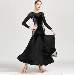 $enCountryForm.capitalKeyWord Australia - Standard Ballroom Dance Flower Competition Dresses Dress Big Swing Costumes For Women Tango Waltz Dresses 2019 Modern Dance Dress F335