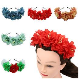 $enCountryForm.capitalKeyWord UK - Photo studio props garland simulation cloth headband Red rose hair accessories simulation rose headband