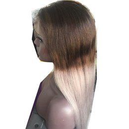 $enCountryForm.capitalKeyWord Australia - Ombre Grey Color Lace Front Human Hair Wigs with Baby Hair PrePlucked Hairline Remy Hair Brazilian Straight Glueless Wig