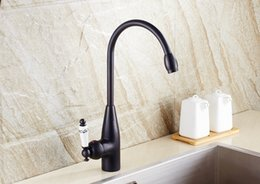$enCountryForm.capitalKeyWord Australia - 2019 Kitchen Faucets Black Single Handle Kitchen Tap Single Hole Handle Swivel 360 Degree Water Mixer Tap with Ceramic