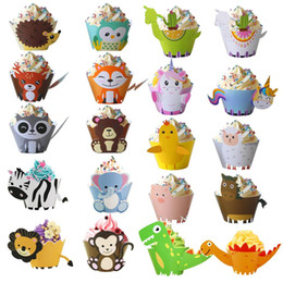 $enCountryForm.capitalKeyWord Australia - Cute animals pattern Cupcake wrappers and Cake Toppers kids Birthday party decorations Jungle safari themed Baby shower decor