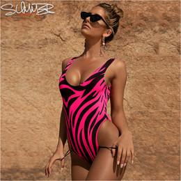 $enCountryForm.capitalKeyWord Australia - Flame Print One Piece Swimsuit Women 2019 Sexy Swimwear One Pieces Backless High Leg Monokini Green Orange Pink Bathing Suits Y19072701