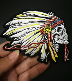 $enCountryForm.capitalKeyWord Australia - Custom Character Fan indian Patches DIY Applique Iron On Clothing Patches Labels Sewing in Clothing badges motor biker patches live to ride