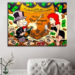 $enCountryForm.capitalKeyWord Australia - Beauty Champagne Painting Alec Monopolyingly Bar Girl Oil Painting Wall Art Canvas Posters Prints Wall Pictures Bedroom Home Decorc