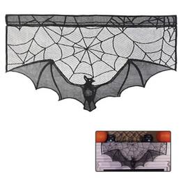 Web Housing Australia - Halloween Decor Haunted House Gothic Black Lace Spider Web Curtains