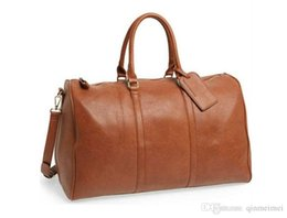 $enCountryForm.capitalKeyWord Australia - fashion keepall 45cm 50cm 55cm REAL LEATHER Brand damier travel Duffle Bag with lock key and strap mens womens handbag Travel bag