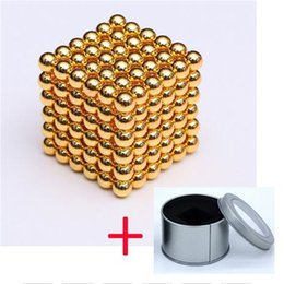 funny blocks Australia - Decompression Toys 3mm Balls NEO Magnetic magnet Sphere 216pcs set magnets with Metal Box Magic Strong Blocks Ball Funny Toys Cube Puzzle