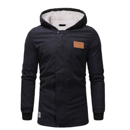$enCountryForm.capitalKeyWord Australia - Autumn Winter Hooded Coats Mens Jackets with Hoodie Beige Long Coats 2019 Brand CSlim Fit ausal Thick Parka Men 3XL Jacket