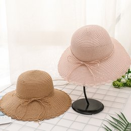 Wholesale Summer Woman Foldable Tide Sunscreen Sun Hat Lace Butterfly Rope Defence Ultraviolet Rays Sandy Beach Will Eaves Straw Hat