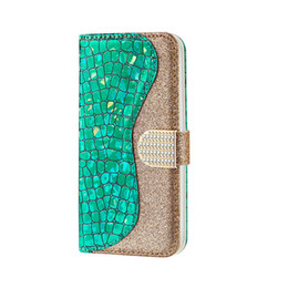 Wholesale samsung s7 phone case wallet for sale - Group buy Wallet phone case Glitter Leather for iPhone X XS MAX XR plus s for Samsung galaxy Note S7 S8 S9 S10 plus A20 A50 A70