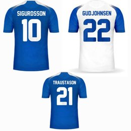 06e7c6536cd New 2018 2019 Iceland Soccer Jersey 18 19 SIGURDSSON home away football  shirt