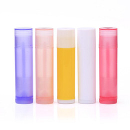 $enCountryForm.capitalKeyWord Australia - 5g 5ml Empty colorful Lip Balm Tubes Containers Lipstick fashion cool lip tubes Multi Color Optional 700pcs