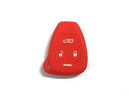 Pimall 4 Buttons Silica Gel Silicone Smart Key Cover Case Set for Compass Patriot Wrangler Jeep Available