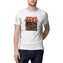 $enCountryForm.capitalKeyWord UK - Mens t-shirts Metallica Garage Days Photo Yellow Band O-neck t shirts Cotton Casual Fashion Shirt