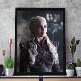 spray painting games Australia - Daenerys Targaryen Poster Game of Thrones Season 8 Canvas Poster Print Canvas Painting Decorative Picture For Living Room Home Decoracion