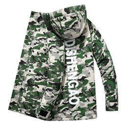 long army skirt Canada - mens designer Season hooded thickened camouflage medium and long down jacket large size casual all-match cotton-padded clothes7JR8