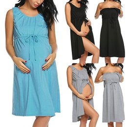 $enCountryForm.capitalKeyWord NZ - Pregnancy Dress Fashion Breastfeeding Nursing Solid Women Dresses Robe Grossesse Premama Summer Comfortable Dress Clothes M-2xl