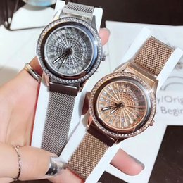 2019 Новый Дизайн Чоп Роскошные Женские Часы Высокого Качества Кварцевые Наручные Часы Магнитная Пряжка Full Diamond Watch