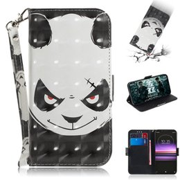 3d Cases Sony Xperia Australia - Flip Cover Wallet Stand For Sony Xperia 1 Case 3D Painting PU Leather Soft Silicon Covers Mobile Phone Bags