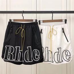 Best sportswear online shopping - 19ss Rhude Patron Shorts Men Women Best Quality Streetwear Shorts Hip Hop Beach Sportswear Rhude Patron Shorts