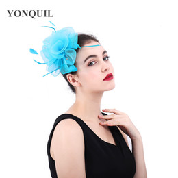 crinoline hair NZ - 2018 Multi-colors nylon crinoline fascinators hats hair accessories for wedding church Party Kentucky derby ascot races SYF395