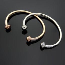 $enCountryForm.capitalKeyWord Australia - Brand name high-grade P letter rotatable crystal lobster clasp bangles ladies charm bangles&bracelet jewelry accessories