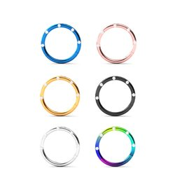 wholesale studs Canada - Women Men Stainless Steel Round circle crystal Nose Ring Piercing Earring Stud Body Jewelry Nasal Septum Piercing Clip