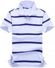 $enCountryForm.capitalKeyWord Australia - Buy Fashion Men Casual Striped Polo Shirts With Small Pony Cotton Sport Polos White Tops Size S-XXL