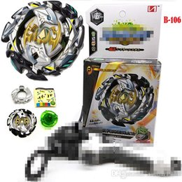 Free beyblade metal Fusion toys online shopping - B106 B110 Beyblades Toupie Beyblade Burst Arena Metal Fusion God Spinning Top Bey Blade Toy With Launcher and Box