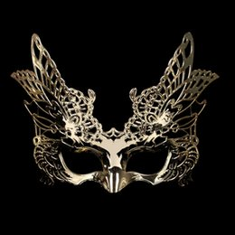 half face gold party masks NZ - Eagle Mask Hawlloween Cosplay Party Masks Half Face Eye Masquerade Mask for Kids Chidren Women Men Drop Shipping