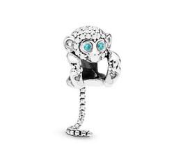 $enCountryForm.capitalKeyWord UK - Fits Pandora Sterling Silver Bracelet Rose Gold Monkey Crysta Pendant Dangle Beads Charms For European Snake Charm Chain Fashion DIY Jewelry