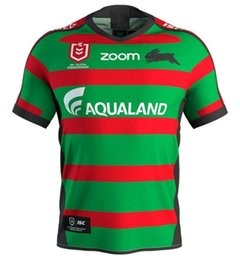 97913dffa26 2019 2020 South Sydney Rabbitohs Home ANZAC rugby Jerseys NRL National  Rugby League shirt nrl jersey Australia rugby shirts size S-3XL