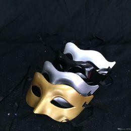 $enCountryForm.capitalKeyWord Australia - Luxury Mask Mens Venetian Party Masquerade Mask Roman Gladiator Halloween Masks Mardi Gras Half Face Mask Optional Multi-color 8UY
