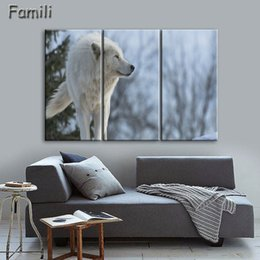 $enCountryForm.capitalKeyWord NZ - 3 Pcs Sets Art on Canvas pictures with the Lone Wolf Canvas Prints Decorative Picture Modern Wall Art Painting