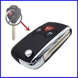 replacement key for toyota camry Australia - 2Buttons +Painc Replacement Remote Car Key Shell Case Fob For Toyota Camry Corolla Vichy Rex Key Uncut Blade