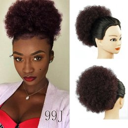 $enCountryForm.capitalKeyWord NZ - Kinky Curly Updo Clip Hair Extensions For Synthetic Afro curly hair bun 13 Colors 60g Drawstring Chignon Bun