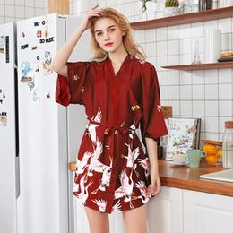 Wholesale Gowns For Women NZ - 2019 Night Gown For Women Fashion Sexy Lingerie Nightwear Silk Underwear Short Robe Sleepwear Dress Lingerie