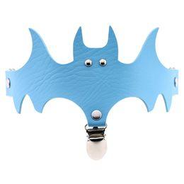 $enCountryForm.capitalKeyWord Australia - Women Bat Wings PU Leather Choker Garter Belt Leg Ring Clip Halloween Decor Accessories XIN-Shipping