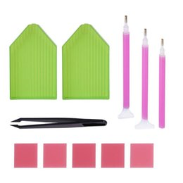 $enCountryForm.capitalKeyWord Australia - DIY Diamond Painting Tool Cross Stitch Tray Pen Glue Sewing Accessories Set
