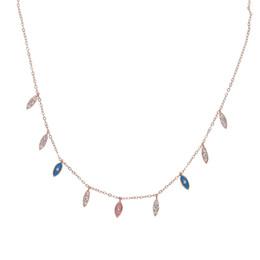 EnamEl Evil EyE charms online shopping - New jewelry design fashion women jewelry cm chain luxury evil eye charm pink blue enamel women necklace