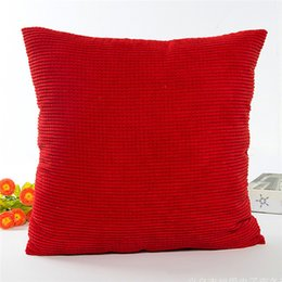 Discount car sofa couch - Silk Material Pillow Case Soft Solid Velvet Toss Throw Pillows Handmade Cushion Cover for Couch Sofa Living Room Car