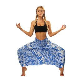 $enCountryForm.capitalKeyWord UK - NEW European and American Women's Wear Indonesian National Style Digital Printed Belly Dance Fashion Broad-legged Lantern Pants Yoga Pants