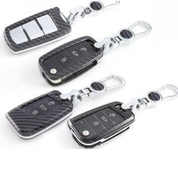 $enCountryForm.capitalKeyWord Australia - Car key cover case shell key cover carbon for Volkswagen vw passat b8 b5 b6 polo golf 7 4 6 tiguan accessories auto key bags